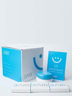 cubo kit contenente dair allineatore invisibile