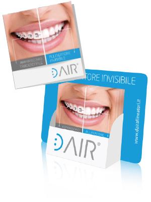 brochure per marketing dair allineatore invisibile